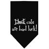 Mirage Pet Products Black Cats are Bad Luck Screen Print Bandana Black Small