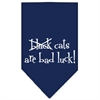 Mirage Pet Products Black Cats are Bad Luck Screen Print Bandana Navy Blue large