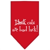 Mirage Pet Products Black Cats are Bad Luck Screen Print Bandana Red Large