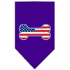 Mirage Pet Products Bone Flag American Screen Print Bandana Purple Small