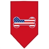Mirage Pet Products Bone Flag American Screen Print Bandana Red Large