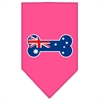 Mirage Pet Products Bone Flag Australian  Screen Print Bandana Bright Pink Small