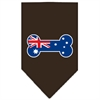 Mirage Pet Products Bone Flag Australian  Screen Print Bandana Cocoa Large