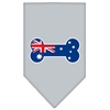 Mirage Pet Products Bone Flag Australian  Screen Print Bandana Grey Large