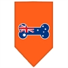 Mirage Pet Products Bone Flag Australian  Screen Print Bandana Orange Small