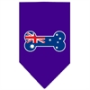 Mirage Pet Products Bone Flag Australian  Screen Print Bandana Purple Large