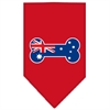 Mirage Pet Products Bone Flag Australian  Screen Print Bandana Red Large