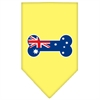 Mirage Pet Products Bone Flag Australian  Screen Print Bandana Yellow Large