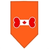 Mirage Pet Products Bone Flag Canadian  Screen Print Bandana Orange Small