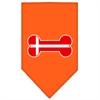 Mirage Pet Products Bone Flag Denmark  Screen Print Bandana Orange Small