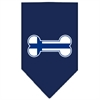 Mirage Pet Products Bone Flag Finland  Screen Print Bandana Navy Blue large