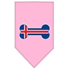 Mirage Pet Products Bone Flag Iceland  Screen Print Bandana Light Pink Small