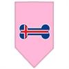 Mirage Pet Products Bone Flag Iceland  Screen Print Bandana Light Pink Large