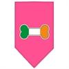 Mirage Pet Products Bone Flag Ireland Screen Print Bandana Bright Pink Small