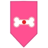 Mirage Pet Products Bone Flag Japan  Screen Print Bandana Bright Pink Small