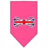Mirage Pet Products Bone Flag UK  Screen Print Bandana Bright Pink Small