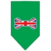 Mirage Pet Products Bone Flag UK  Screen Print Bandana Emerald Green Small
