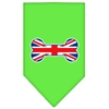 Mirage Pet Products Bone Flag UK  Screen Print Bandana Lime Green Large
