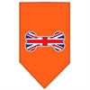 Mirage Pet Products Bone Flag UK  Screen Print Bandana Orange Large