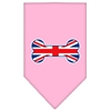 Mirage Pet Products Bone Flag UK  Screen Print Bandana Light Pink Small