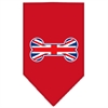 Mirage Pet Products Bone Flag UK  Screen Print Bandana Red Small