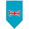 Mirage Pet Products Bone Flag UK  Screen Print Bandana Turquoise Small