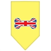 Mirage Pet Products Bone Flag UK  Screen Print Bandana Yellow Small