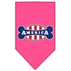 Mirage Pet Products Bonely in America Screen Print Bandana Bright Pink Small