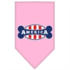 Mirage Pet Products Bonely in America Screen Print Bandana Light Pink Small