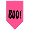 Mirage Pet Products Boo! Screen Print Bandana Bright Pink Large