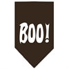 Mirage Pet Products Boo! Screen Print Bandana Cocoa Large