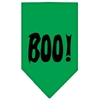 Mirage Pet Products Boo! Screen Print Bandana Emerald Green Large