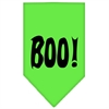 Mirage Pet Products Boo! Screen Print Bandana Lime Green Large