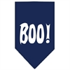 Mirage Pet Products Boo! Screen Print Bandana Navy Blue large