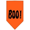 Mirage Pet Products Boo! Screen Print Bandana Orange Large