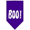 Mirage Pet Products Boo! Screen Print Bandana Purple Large