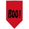 Mirage Pet Products Boo! Screen Print Bandana Red Small