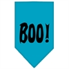 Mirage Pet Products Boo! Screen Print Bandana Turquoise Small