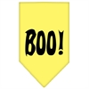 Mirage Pet Products Boo! Screen Print Bandana Yellow Small