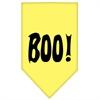 Mirage Pet Products Boo! Screen Print Bandana Yellow Large