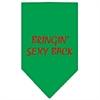 Mirage Pet Products Bringin Sexy Back Screen Print Bandana Emerald Green Small