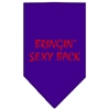 Mirage Pet Products Bringin Sexy Back Screen Print Bandana Purple Small