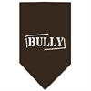 Mirage Pet Products Bully Screen Print Bandana Cocoa Large
