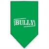Mirage Pet Products Bully Screen Print Bandana Emerald Green Small