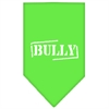 Mirage Pet Products Bully Screen Print Bandana Lime Green Large