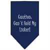 Mirage Pet Products Can't Hold My Licker  Screen Print Bandana Navy Blue large
