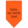 Mirage Pet Products Can't Hold My Licker  Screen Print Bandana Orange Small