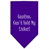 Mirage Pet Products Can't Hold My Licker  Screen Print Bandana Purple Small