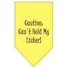 Mirage Pet Products Can't Hold My Licker  Screen Print Bandana Yellow Large