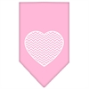 Mirage Pet Products Chevron Heart Screen Print Bandana Light Pink Large